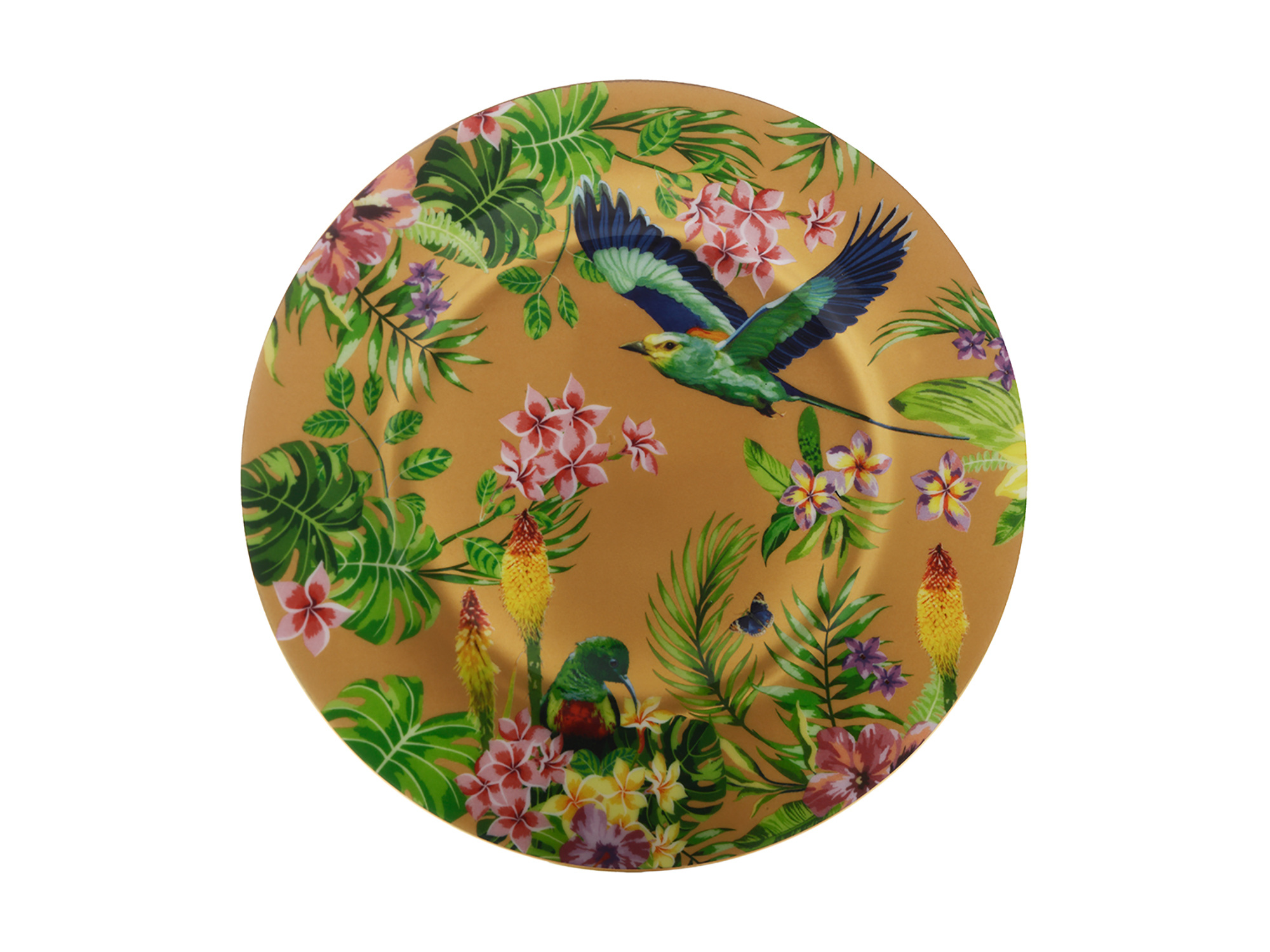 Maxwell & Williams Cashmere Birds Of Paradise Plate Gold