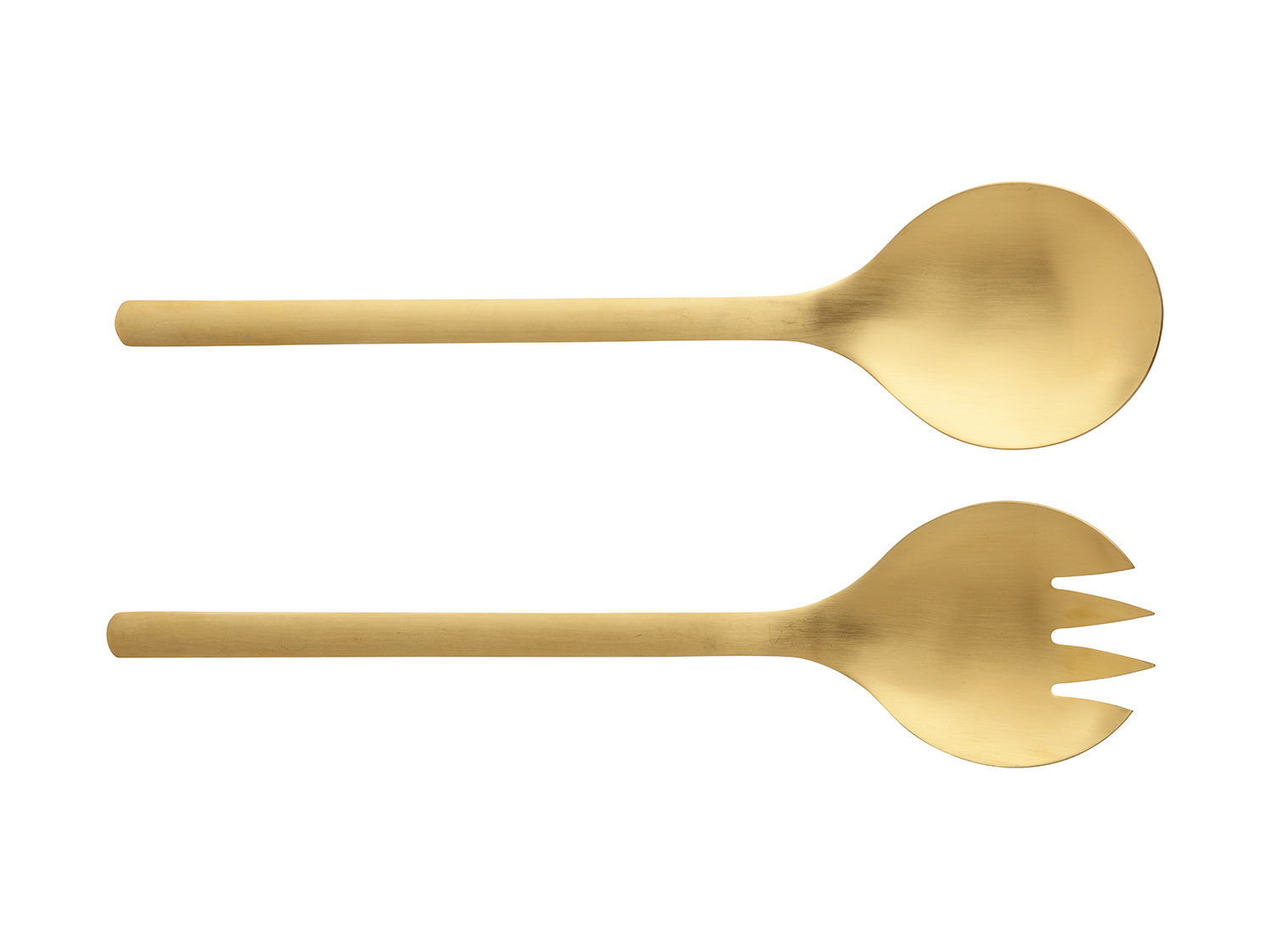 Maxwell & Williams Elemental Set Of 2 Salad Servers Gold Gift Boxed