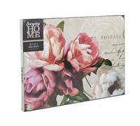 Everyday Home Postcard Floral Pack Of 4 Placemats