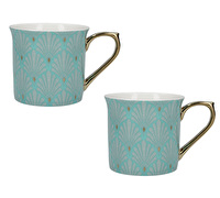 Victoria And Albert Scallop Shells Set Of 2 Palace Mugs Turquoise