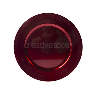 Creative Tops Creative Christmas Lacquer Charger Plate Red