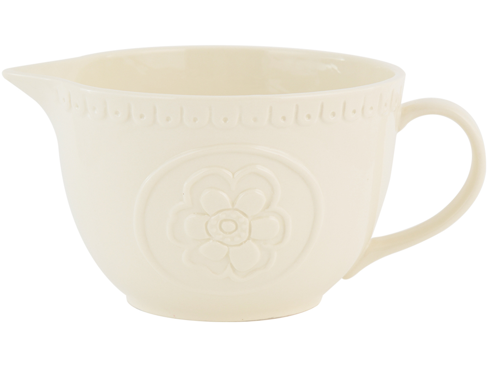 Katie Alice Cottage Flower Embossed Batter Jug Cream