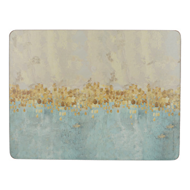 Creative Tops Golden Reflections Pack Of 6 Premium Placemats
