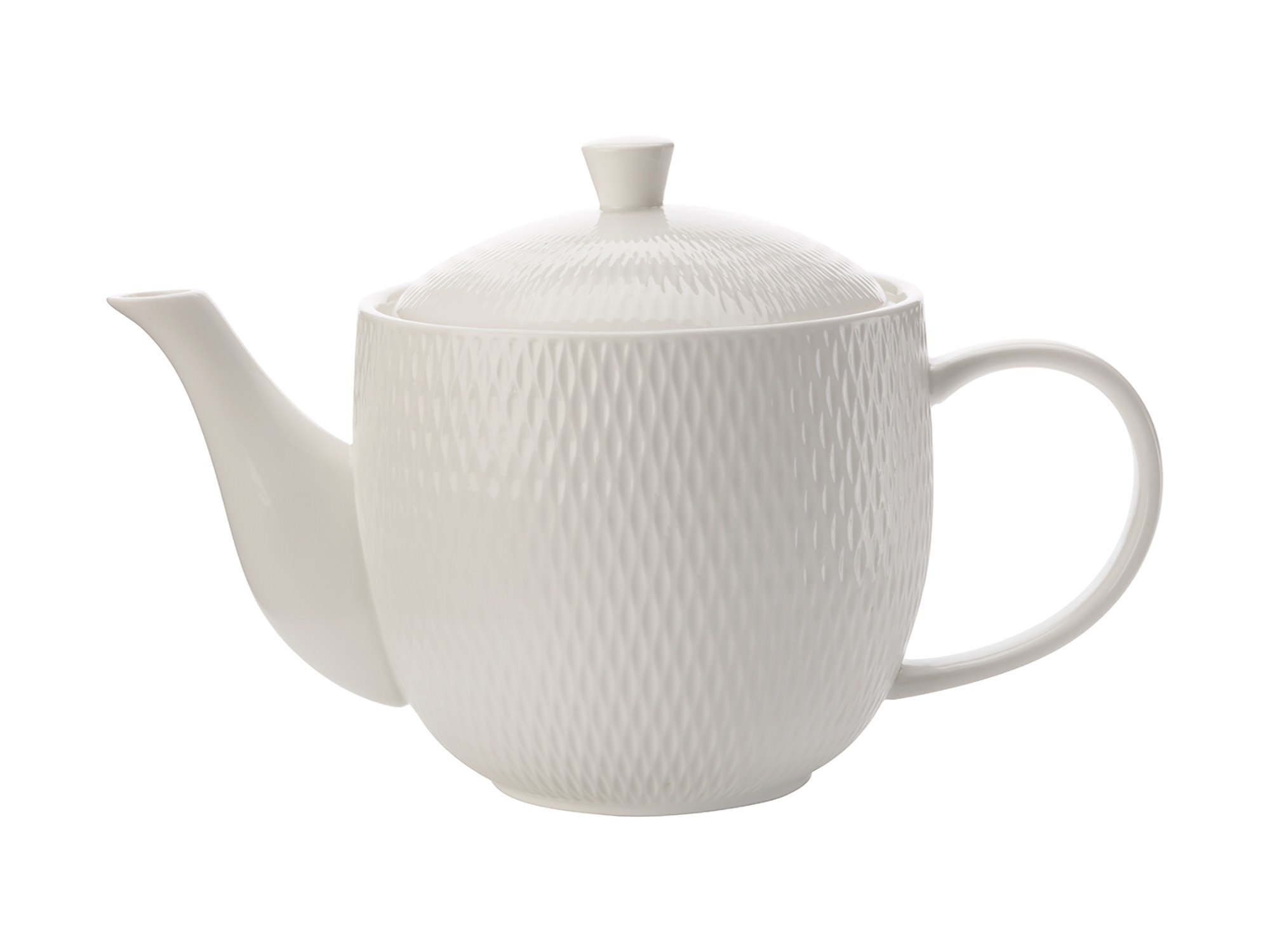 Maxwell & Williams White Basics Diamonds 800Ml Teapot Gift Boxed
