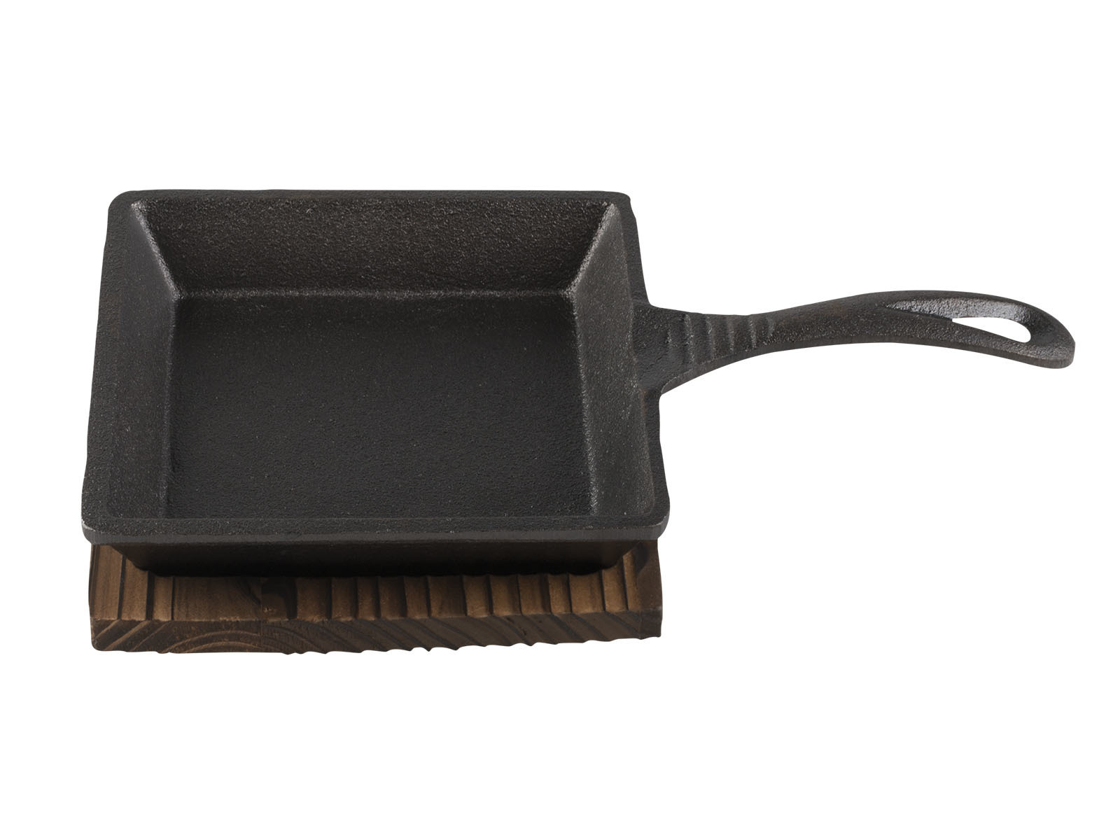 Sabatier Maison Small Square Cast Iron Pan And Base