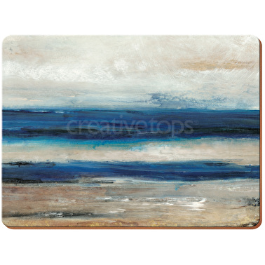 Creative Tops Blue Absract Pack Of 6 Premium Placemats