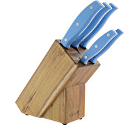 Katie Alice 6pc Acacia Knife Block