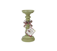 Katie Alice Highland Fling Small Candlestick Green