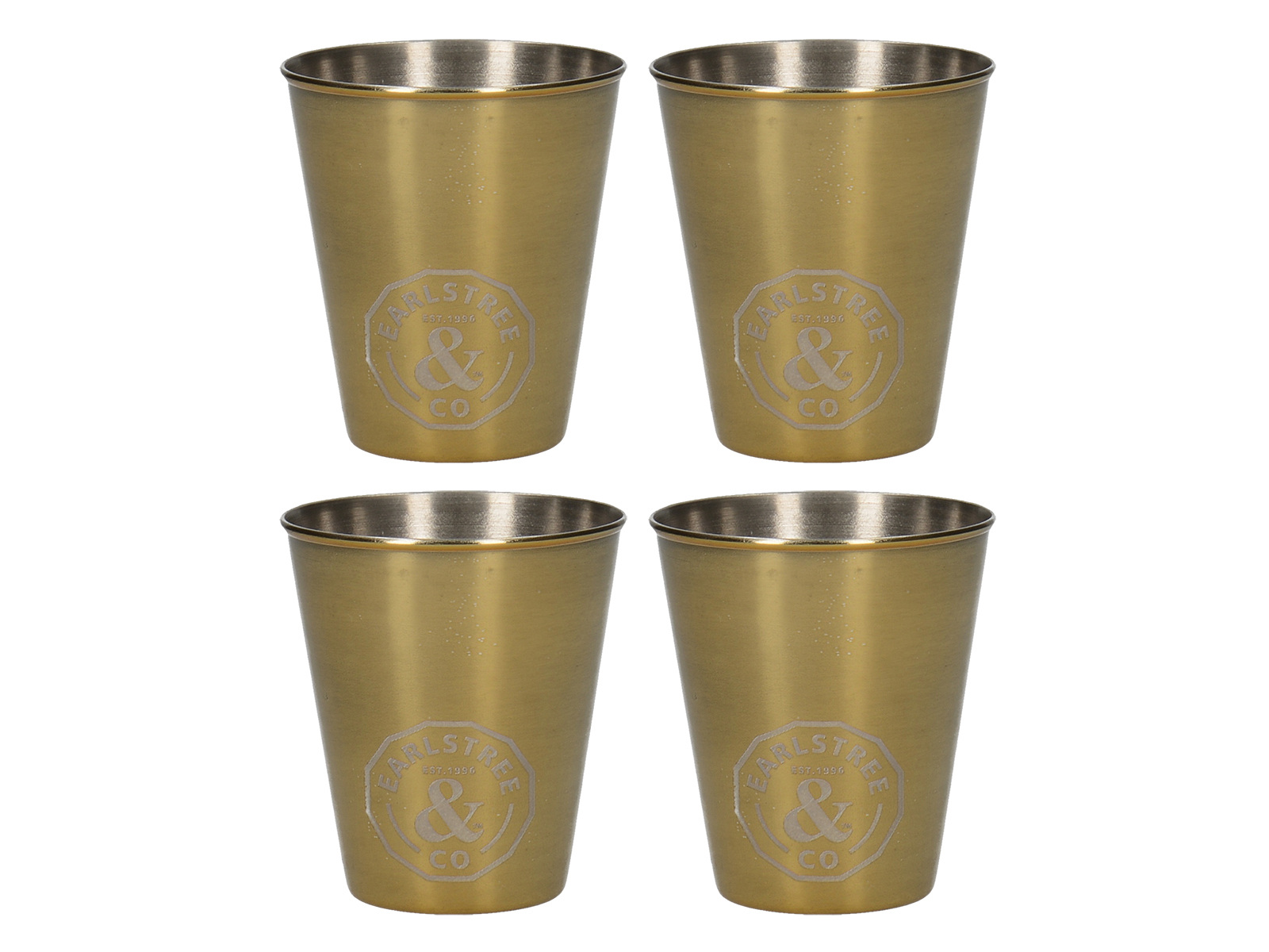 Creative Tops Earlstree & Co Set Of 4 Stainless Steel Shot Glasses