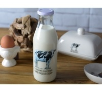 Creative Tops Farmers Market Glass Milk Bottle