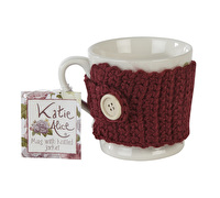 Katie Alice Highland Fling Mug With Knitted Cosy