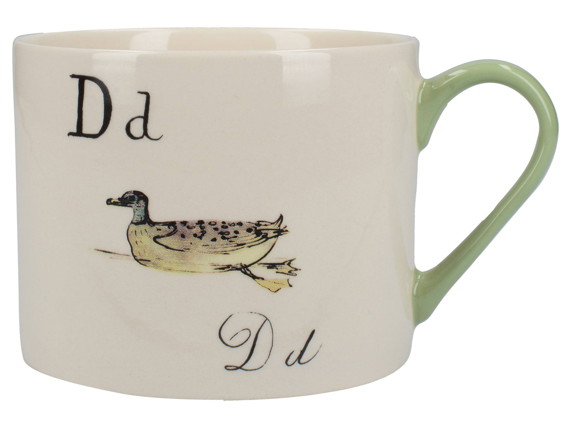 Victoria And Albert Nonsense Alphabet Squat Can Mug D