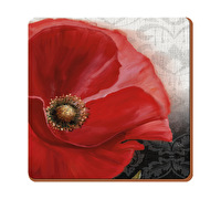 Everyday Home Poppy Pack Of 4 Coasters