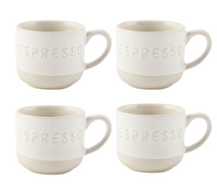 La Cafetiere Origins Embossed Set Of 4 Espresso Cups