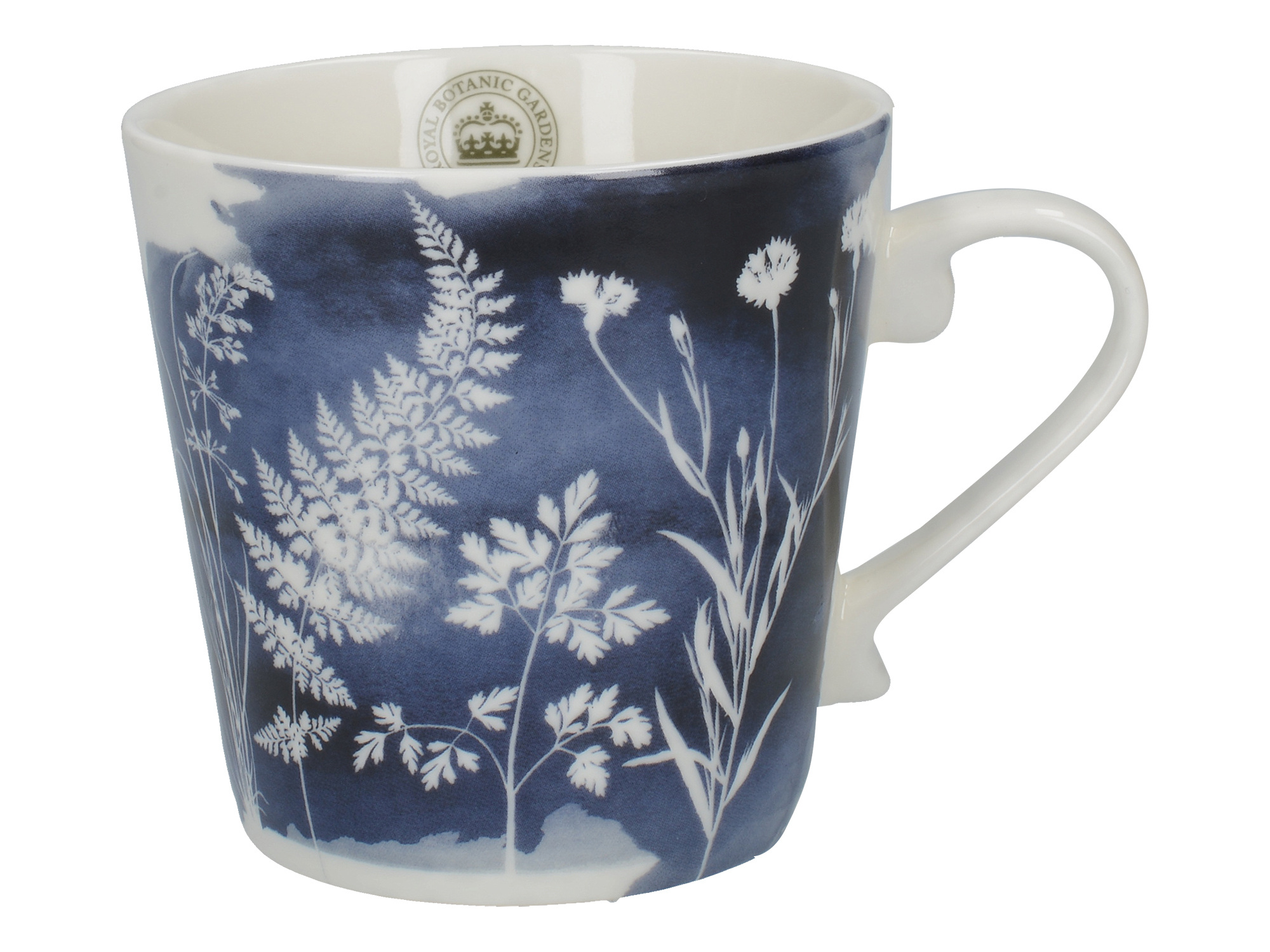 Kew Gardens Richmond Watercolour Meadow Squat Mug Navy