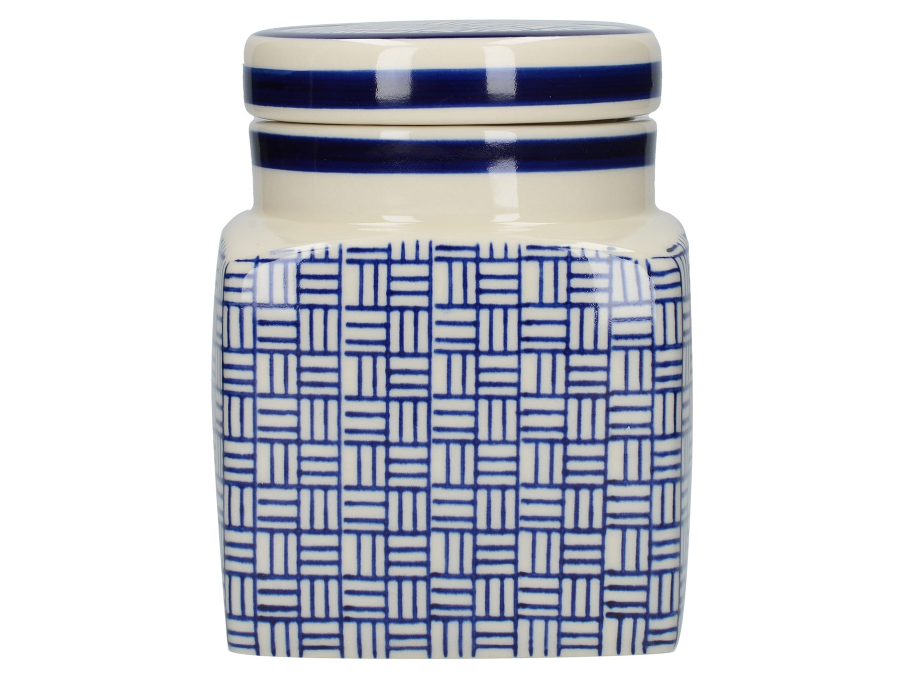 London Pottery Ceramic Canister Lattice
