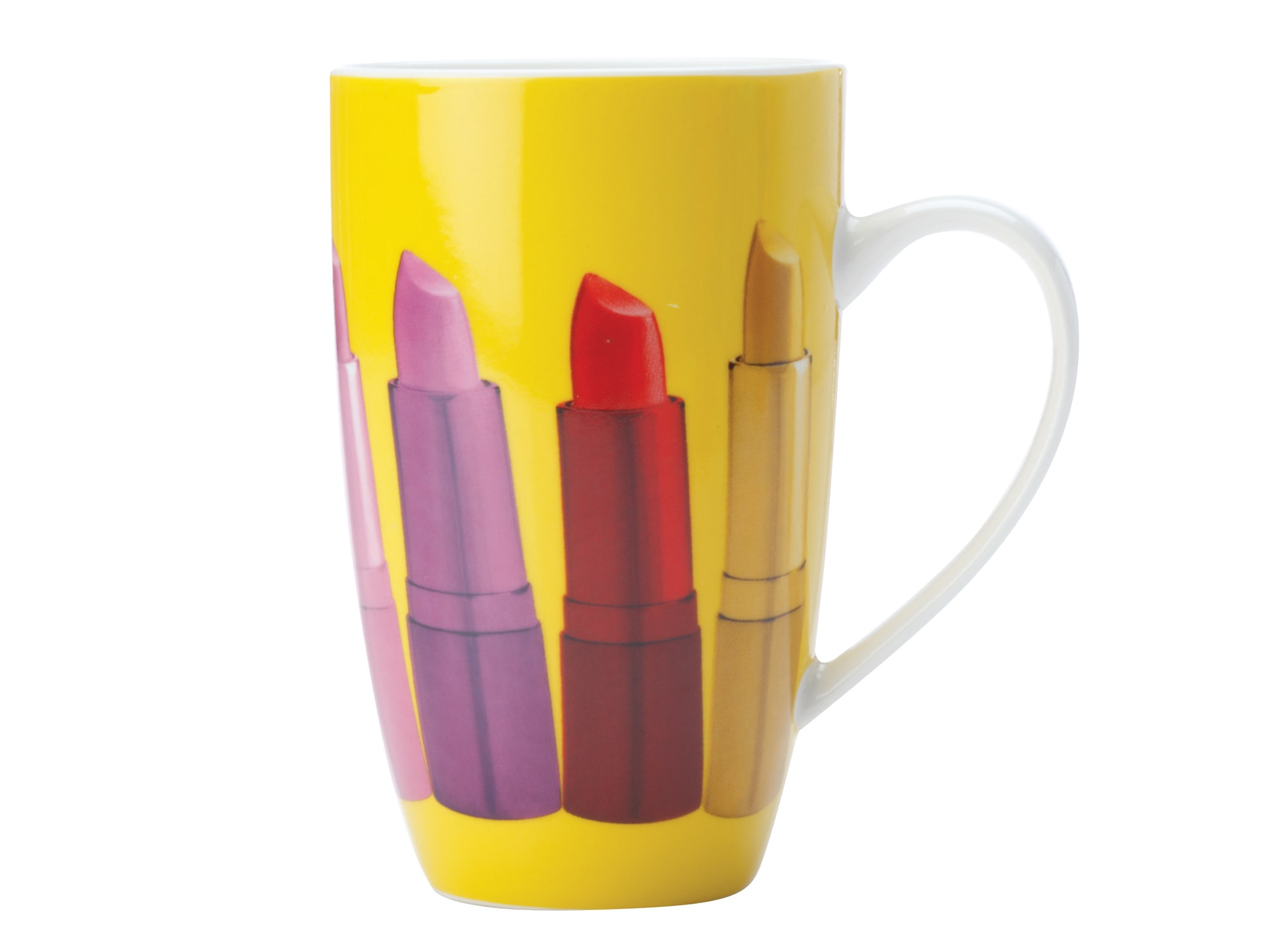 Christopher Vine Pout 420Ml Coupe Mug Yellow