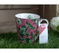 Victoria and Albert Garden Birds Conical Mug Pink