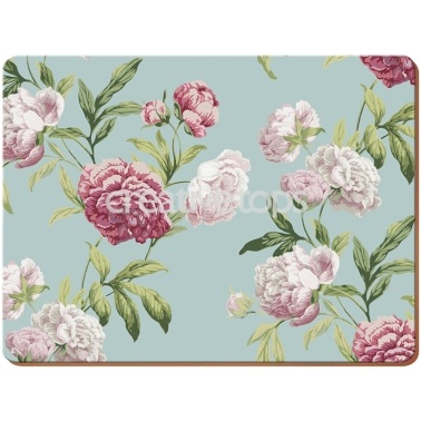 Everyday Home Duck Egg Floral Pack Of 4 Placemats