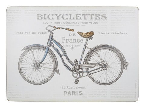Creative Tops Bicycle Pack Of 4 Large Premium Placemats
