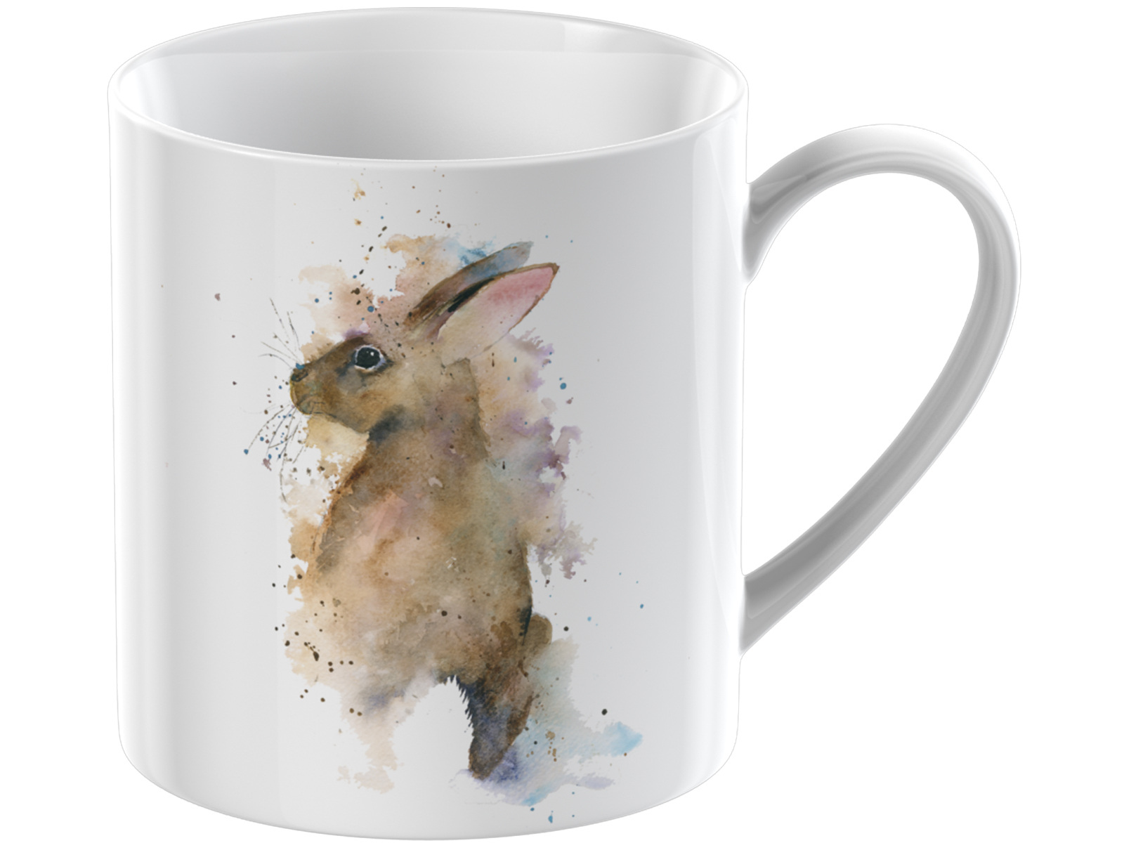 Everyday Home Watercolour Rabbit Can Mug