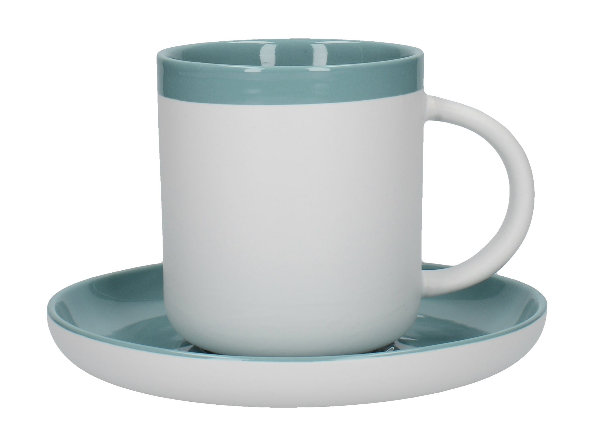 La Cafetiere Barcelona 300ml Coffe Cup And Saucer Retro Blue