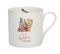 Roald Dahl Charlie And The Chocolate Factory Fine Bone China Can Mug With Gold