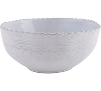 M By Mikasa Hush Embossed Salad Bowl