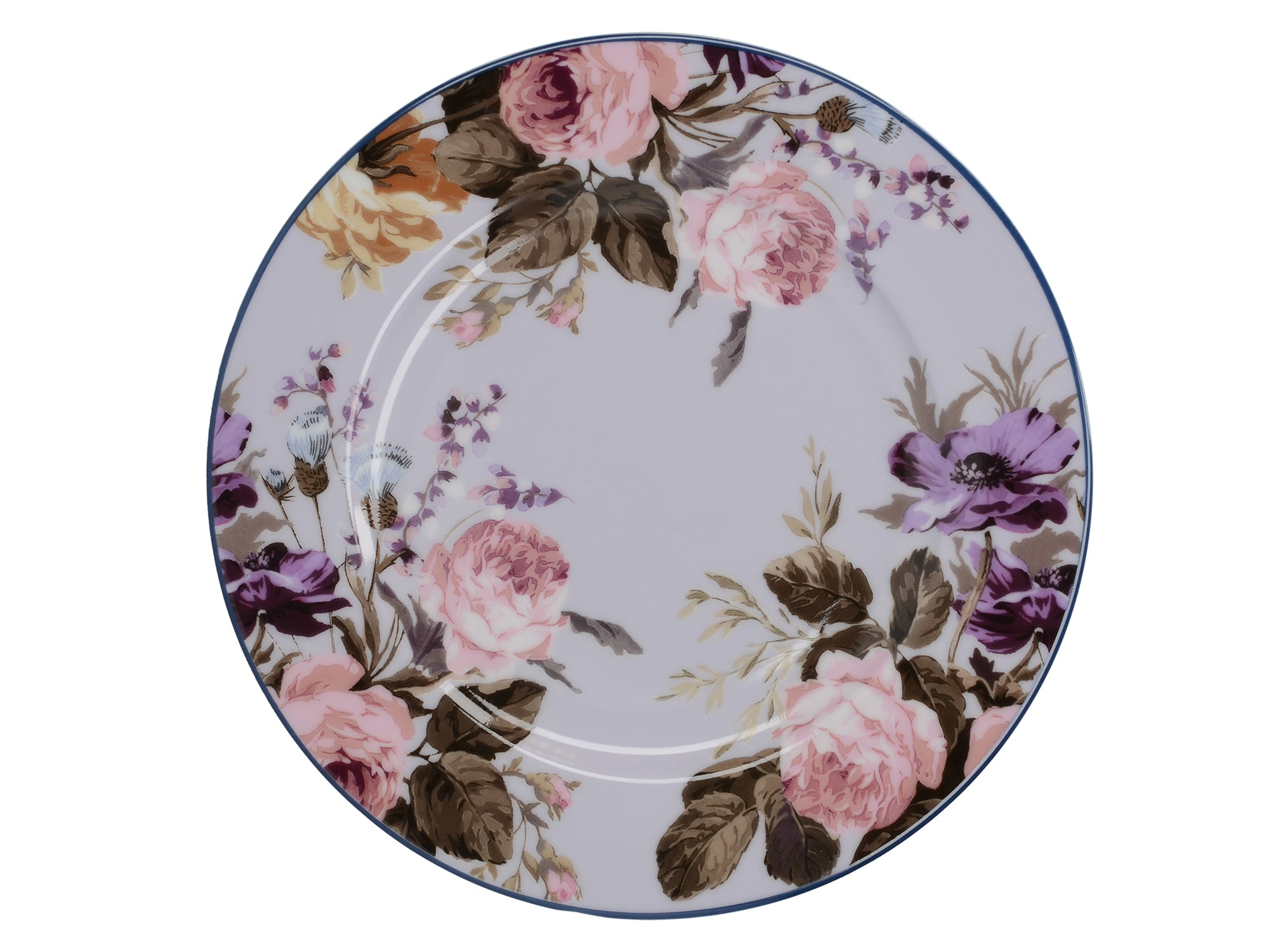 Katie Alice Wild Apricity Grey Floral Side Plate