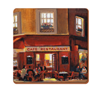 Everyday Home Evening Cafe Pack Of 4 Coasters