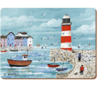 Everyday Home Lighthoude Coastal Pack Of 4 Placemats