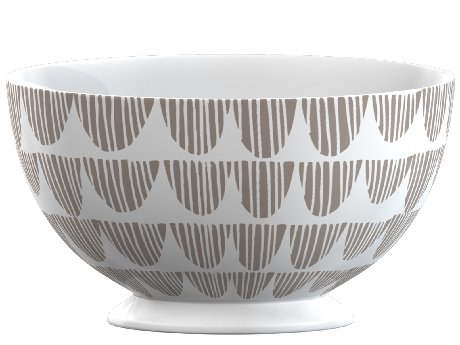 La Cafetiere Taupe Bunting Footed Bowl