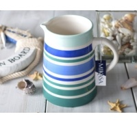 M By Mikasa Into The Blue Stripe Jug