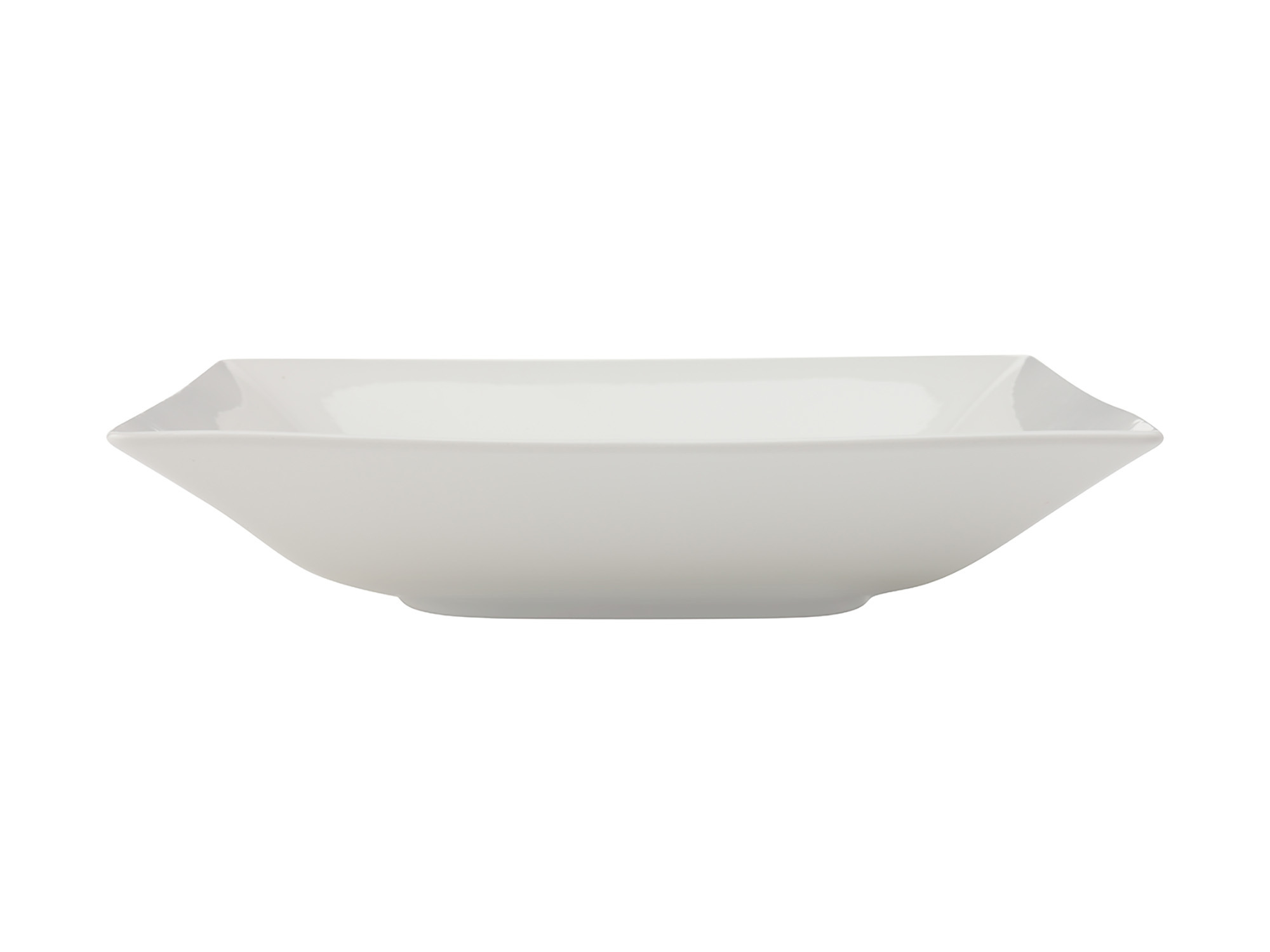 Maxwell & Williams White Basics Linear 26Cm Square Shallow Bowl