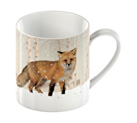 Creative Tops Snow Scenes Fox Can Mug