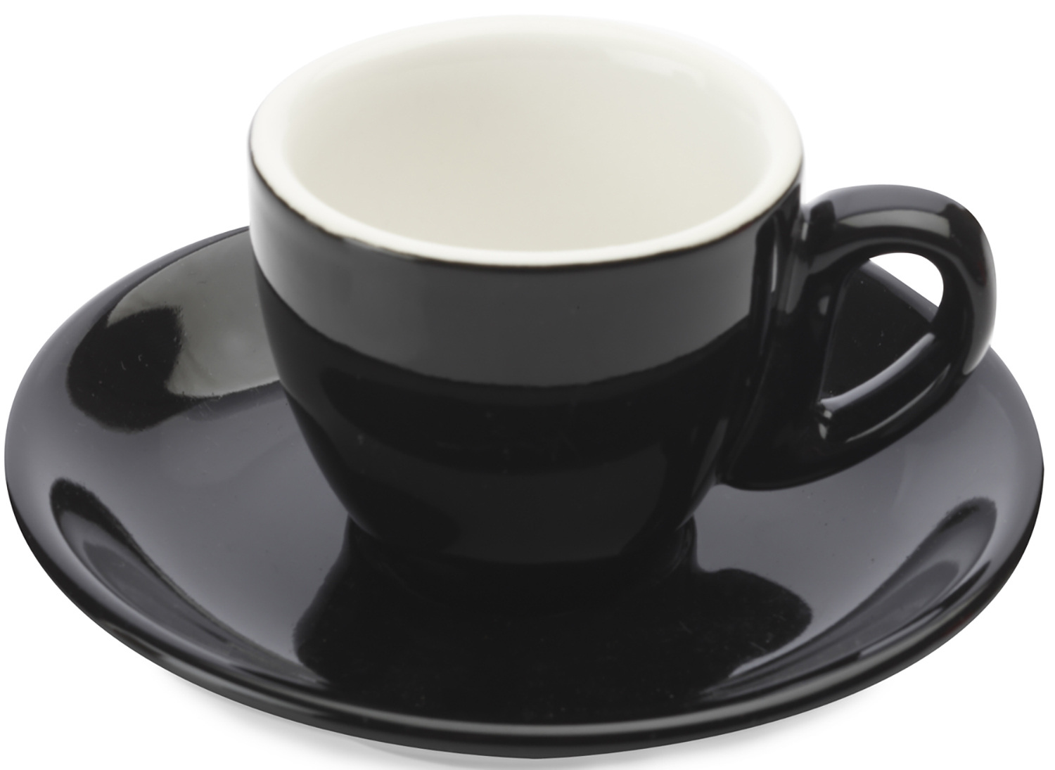 Maxwell & Williams Cafe Culture 70Ml Cup And Saucer Nero