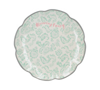Katie Alice Blooming Fancy Slogan Side Plate