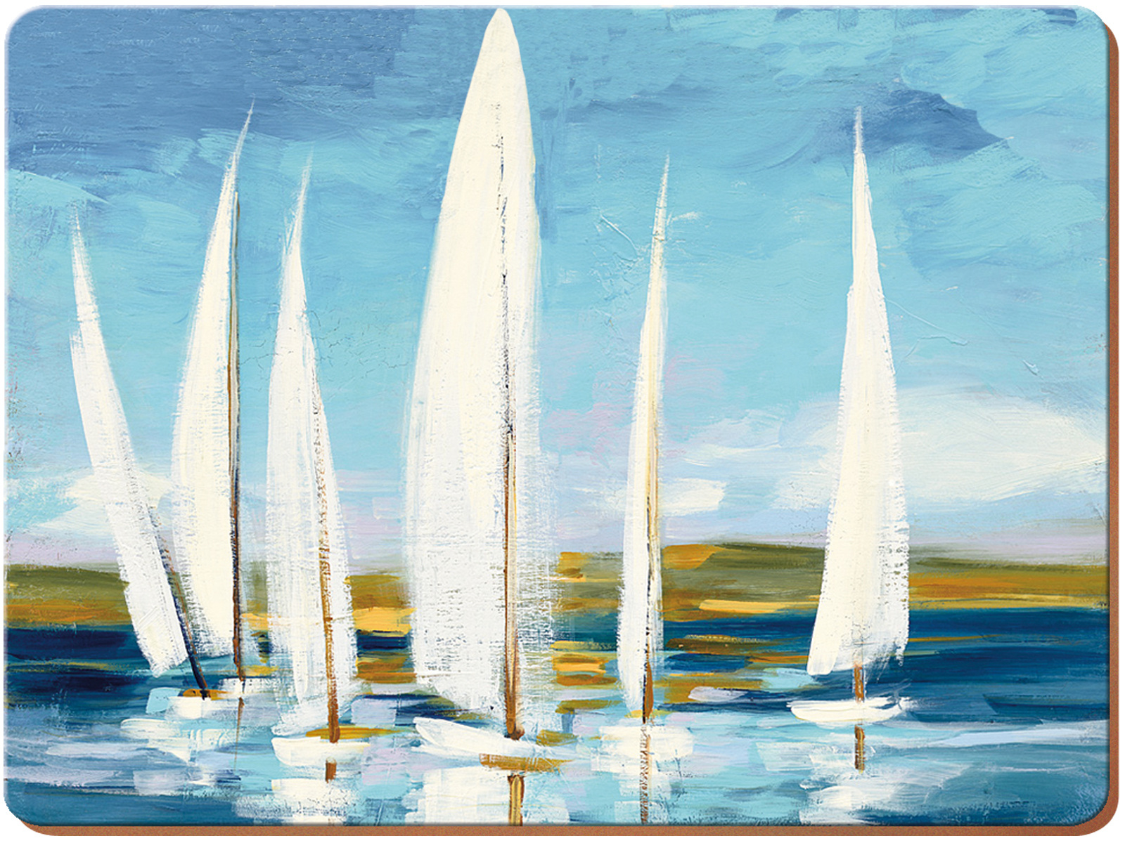 Creative Tops Sailing Boats Pack Of 4 Large Premium Placemats