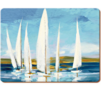 Creative Tops Sailing Boats Pack Of 6 Premium Placemats