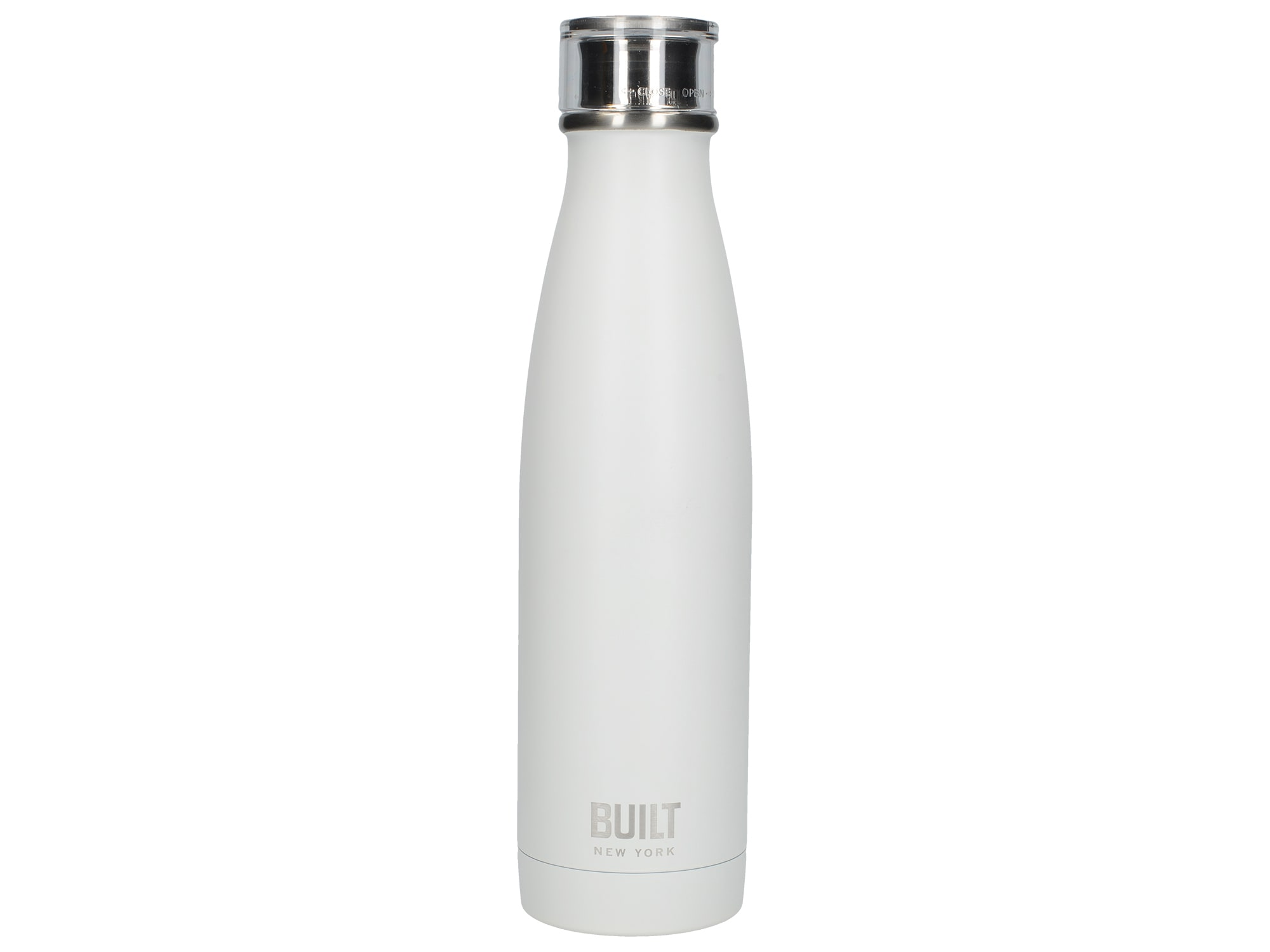 Built 17Oz Perfect Seal Double Walled Stainless Steel Water Bottle White