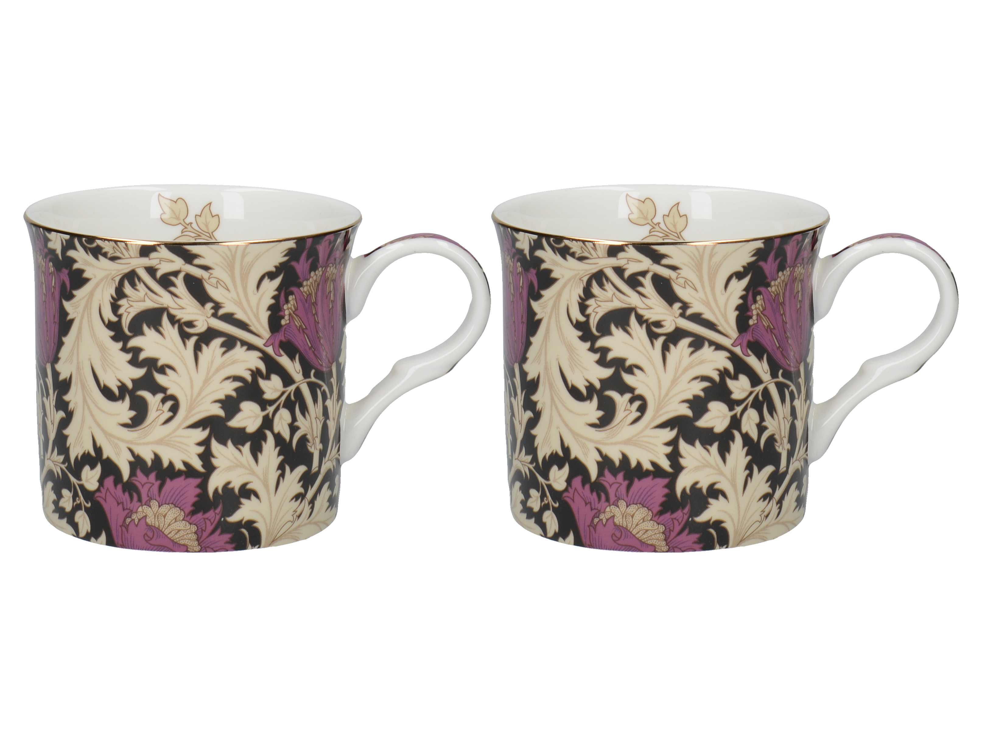 Victoria and Albert Anomone Black Set Of 2 Palace Mugs
