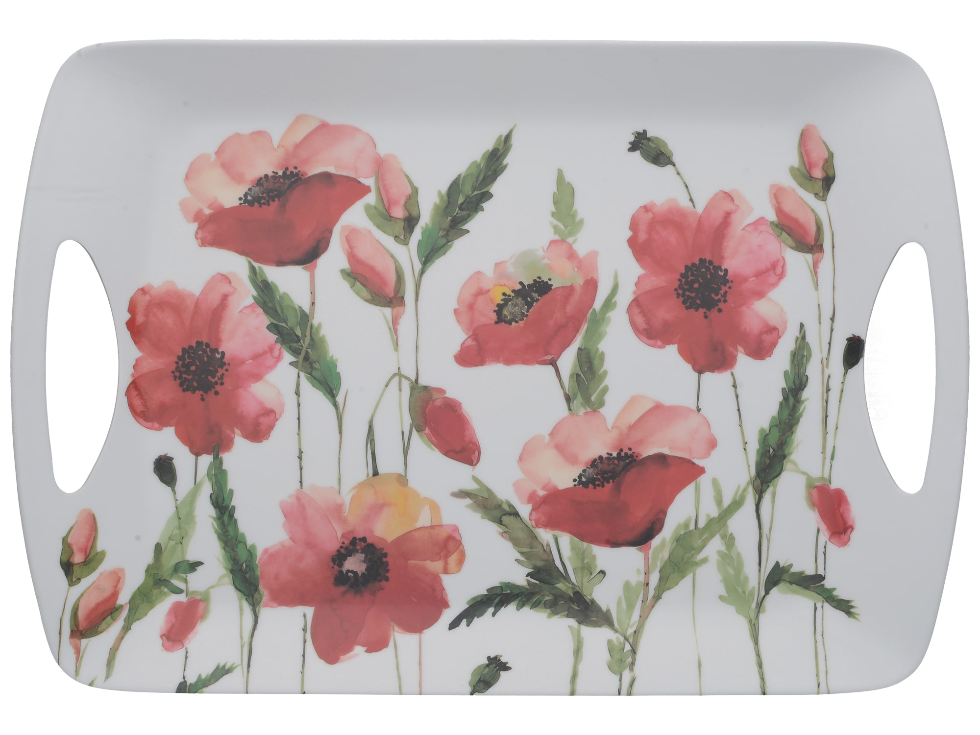 Creative Tops Watercolour Poppy Large Luxury Handled Tray
