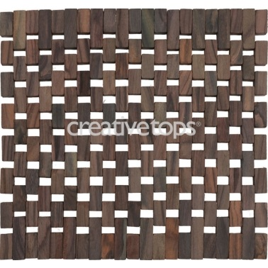 Creative Tops Dark Slatted Wood Pack Of 2 Placemats
