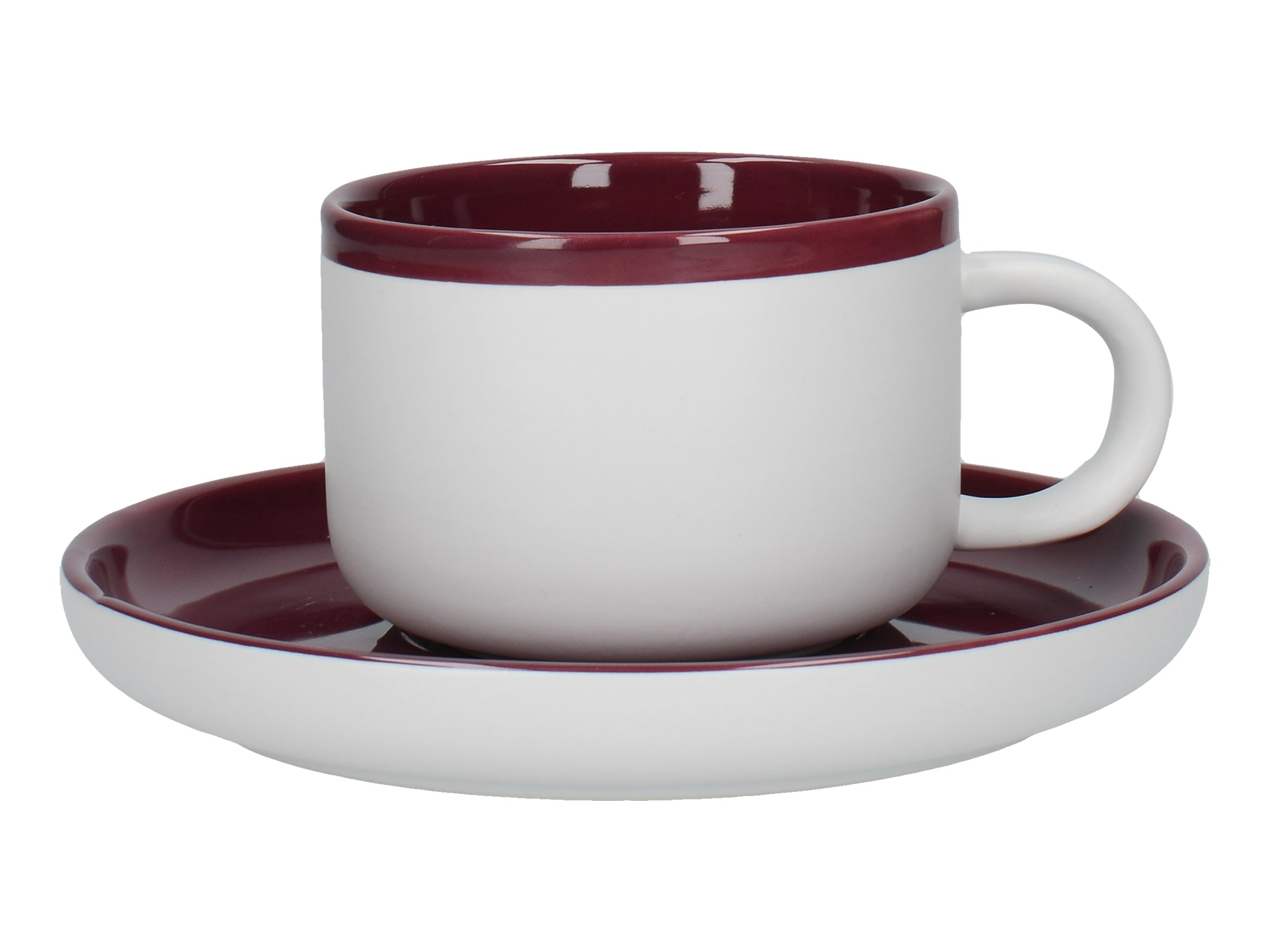 La Cafetiere Barcelona 290ml Tea Cup And Saucer Plum