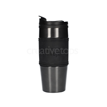 La Cafetiere 450ml Travel Flask Pp Inner Stainless Steel Outer Gun Metal Grey