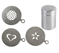 La Cafetiere Set Of 3 Stencil And Shakers