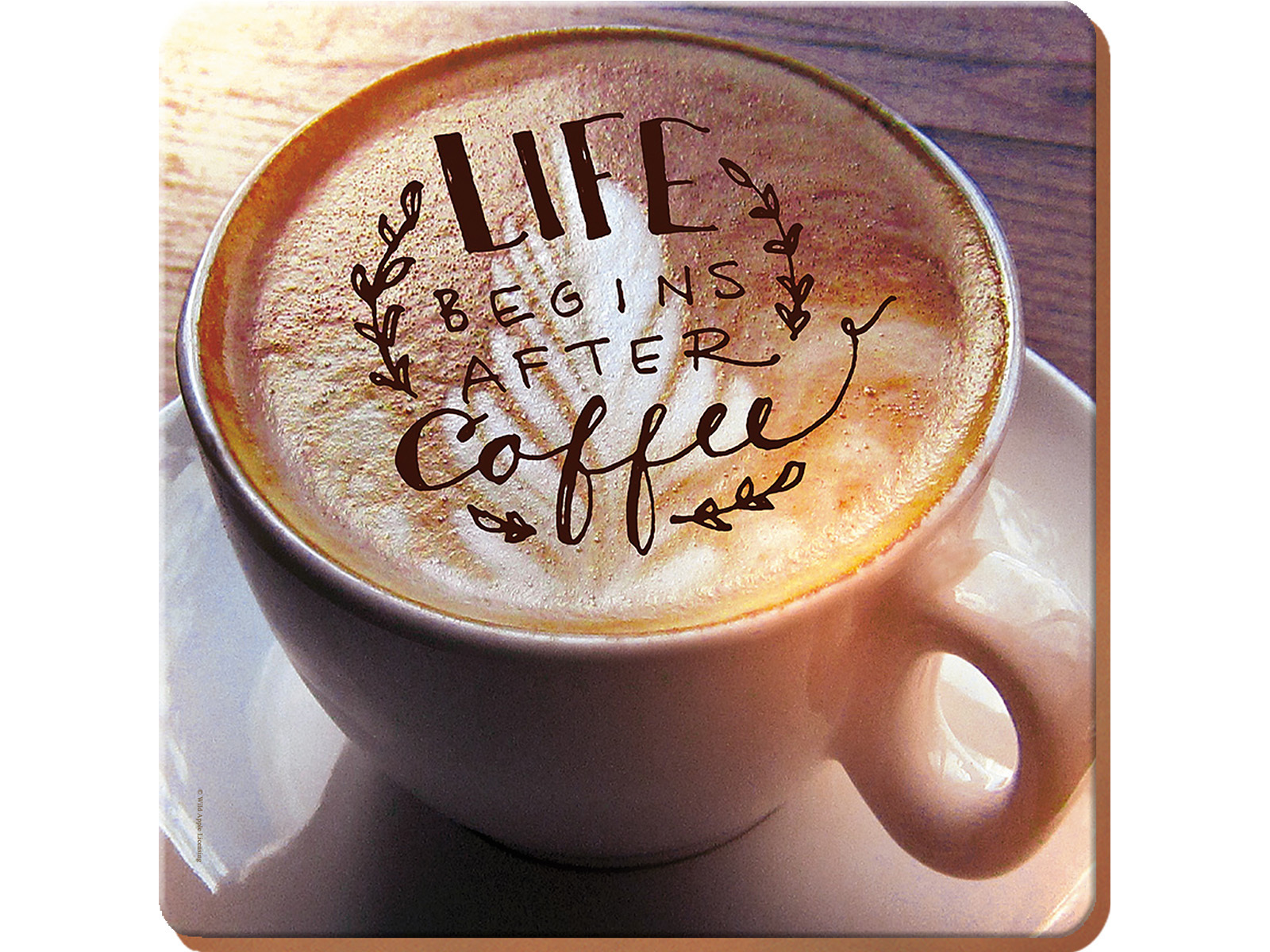 Creative Tops Life Begins After Coffee Pack Of 4 Square Premium Placemats
