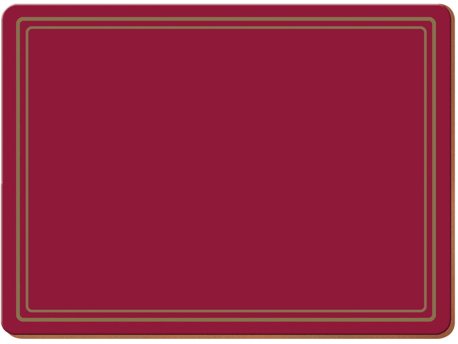 Creative Tops Classic Pack Of 6 Premium Placemats Red