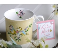 Katie Alice Bird Song Palace Mug Yellow Bird