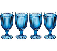 Mikasa Italian Countryside Set Of 4 Iced Beverage 13Oz Glasses Blue